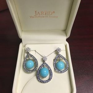 Levian turquoise and tanzanite jewelry set.